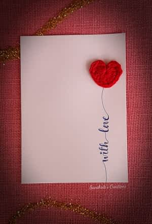 Crochet Card - Valentine special series