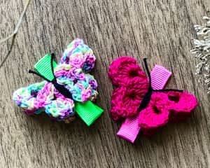 Butterfly Alligator Clips - Set of 2