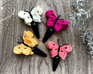 Butterfly Snap Clips - Set of 4