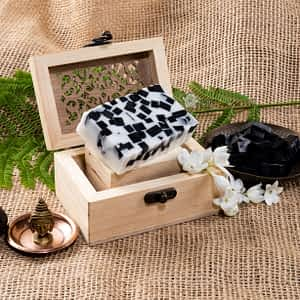 Aura Essentials Goats milk with Activated Charcoal Soap Bar - India's First fin commerce marketplace for artisans